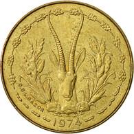 West African States, 5 Francs, 1974, TTB+, Aluminum-Nickel-Bronze, KM:2a - Ivory Coast