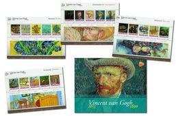 Nederland 2015   Vincent Van Gogh Jaar  4 Velletjes Sheetlets International   Postfris/mnh/sans Charniere - Periode 1980-... (Beatrix)