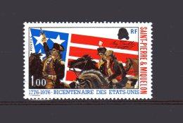 449 Bicentenaire De L'indépendance Des Etats-unis Neuf 1976 Lot 74 - St.Pierre & Miquelon