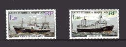 453-454 Bateaux De Peche Neuf 1976 Lot 75 - St.Pierre & Miquelon