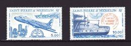 64-65 Avion Portant Le Mon De Ville De Saint-pierre 1987 Lot 78 - Airmail