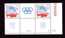 487A Jeux Olympiques D'hiver à Calgary La Paire Coin Daté 22 2 88 Lot 79 - St.Pierre & Miquelon
