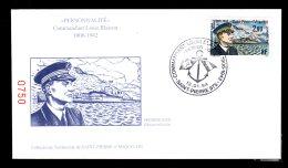 Premier Jourpersonnalité Commandant Louis Blaison 12 01 94 Lot 89 - FDC
