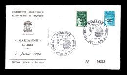 Premier Jour Marianne 7 Janv 1998 Timbres 667 668 Lot 95 - FDC
