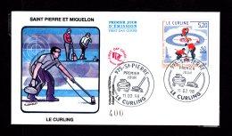 Premier Jour Le Curling 11.02.98 Lot 96 - FDC