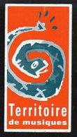 TERRITOIRE DE MUSIQUES - Autocollant  - Ref: 855 - Stickers