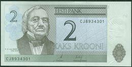 TWN - ESTONIA 85b - 2 Krooni 2007 Prefix CJ UNC - Estonia
