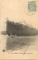 Themes Div - Ref W339- Bateaux - Bateau De Guerre -marine Militaire - Le Dupleix *- Croiseur Apres Son Lancement - - Guerre