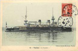 Themes Div - Ref W338- Bateaux - Bateau De Guerre -marine Militaire - Toulon - Le Gaulois *- Carte Bon Etat - - Guerre