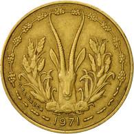 West African States, 5 Francs, 1971, TTB, Aluminum-Nickel-Bronze, KM:2a - Ivory Coast