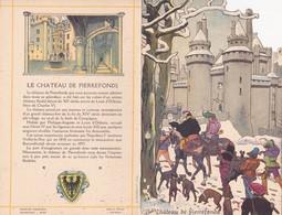 Menu Publicitaire Champagne Charles Heidsieck Reims Château De Pierrefonds Le Récit Du Pélerin - Menus