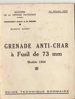 Guide Technique Grenade Anti Char à Fusil De 73 Mn Modèle 1950 - Altri