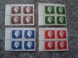 Canada 1963 # O46 - O47 - O48 - O49 Overprint Queen Cameo Mint 4 Bloc - Officials