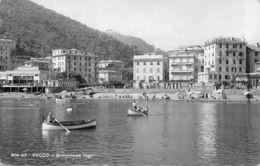 Cartolina Recco Stabilimento Bagni Barche 1948 - Genova (Genoa)
