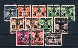 Generalgouvernement 1940 Lot 12 Werte ** - Besetzungen 1938-45