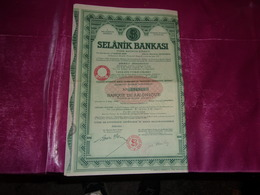 SELANIK BANKASI   Banque De Salonique - Ohne Zuordnung