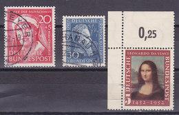 Bundesrepublik,1951, Elsa, Rontge,, Joconde,Mi 145°+147°+148** , Cote 29.6€( W1803/024) - BRD