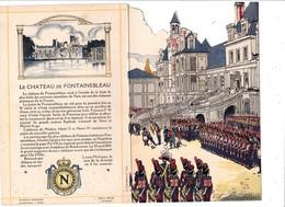 Menu Publicitaire Champagne Charles Heidsieck Reims Château De Fontainebleau Le Roi De Rome (2 Scans) - Menus
