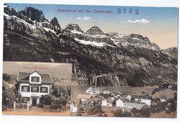 UNTERTERZEN: Fabriken, Restaurant Freieck Mit Oldtimer, Coloriert 1916 - SG St. Gallen