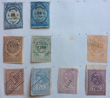 FRANCIA TIMBRE FISCAL  9 Stamps - Steuermarken