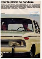BMW GAMME CATALOGUE 2 PAGES 1966 Format A4 FRANCE - Werbung