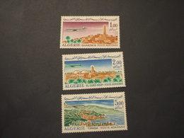 ALGERIA - P.A. 1967/8 VEDUTA AEREA 3 VALORI  - NUOVI(++) - Algerien (1962-...)