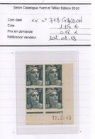 Coin Daté N°713 - 1940-1949