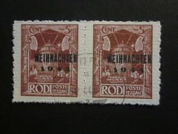 Feldpost RHODOS Nr. 12 PAAR Gestempelt / Nachdruck- (3) - Occupation 1938-45