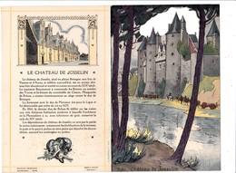 Menu Publicitaire Champagne Charles Heidsieck Reims Château De Josselin Noce Bretonne Biniou Cornemuse Bagpipe (2 Scans) - Menus