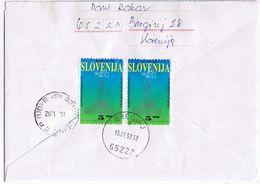 Raccomandata Breginj-> Udine  Viaggiata Primo Periodo Indipendenza (15/1/1992) - Slovenia