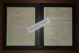 FAIRE-PART DECES 1927 De MONTPLANET ARCHAMBAULT De MONTFORT BAUDUS Montmorillon Vienne - Décès