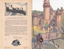 Menu Publicitaire Champagne Charles Heidsieck Reims Château De Coucy Départ Pour La Chasse Chasse à Courre (2 Scans) - Menus