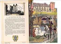 Menu Publicitaire Champagne Charles Heidsieck Reims Château De Pau Jeunesse D' Henri IV (2 Scans) - Menus