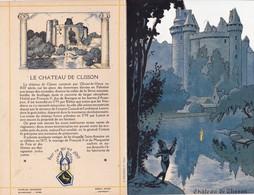 Menu Publicitaire Champagne Charles Heidsieck Reims Château De Clisson Le Tournoi Jeux Equestres (2 Scans) - Menus