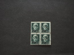 ITALIA - P.M. 1942 IMPERIALE 15 C. , In Quartina(block Of Four) - 4. 1944-45 Repubblica Sociale