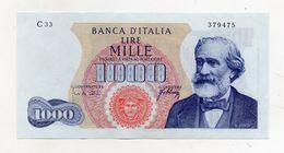 "Italia - Banconota Da Lire 1.000 ""Verdi ""- Medusa - 1° Tipo - BB++/SPL - Decreto 10 Agosto 1965 - (FDC8439) - [ 2] 1946-… : République"