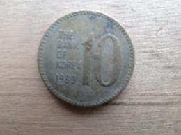 Koree Du Sud  10 Won  1980 Km 6 - Corée Du Sud