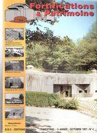 FORTIFICATIONS PATRIMOINE N°4 1997 MUR ATLANTIQUE LIGNE MAGINOT ARTILLERIE LOURDE COTIERE BUNKER CASEMATE BATTERIE - Magazines & Papers