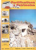 FORTIFICATIONS PATRIMOINE N°5 1998 MUR ATLANTIQUE LIGNE MAGINOT ARTILLERIE LOURDE COTIERE BUNKER CASEMATE BATTERIE - Magazines & Papers