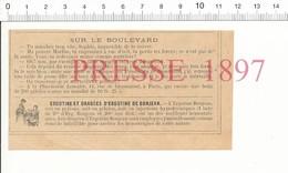 Presse 1897 Pilules Du Dr Stendhalle Pharmacie Lemaire Rue De Grammont / Ergotine Bonjean 216PF10Z - Unclassified