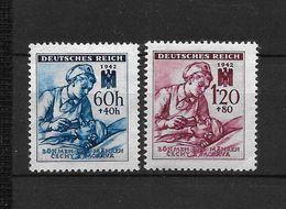 LOTE 1663  ///  BOHEMIA Y MORAVIA   YVERT Nº:  99/100 - Unused Stamps