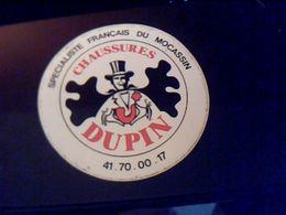 Autocollant Ancien Publicite Vetements Chaussures Dupin - Stickers