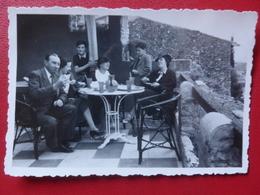 CAGNES LE HAUT LE CAGNARD RESTAURANT TERRASSE 1937 PHOTO 8.5 X 5.5 - Lieux