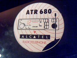 Autocollant Ancien Publicite ATR 680 Alcatel Radiotelephone Theme CB-RADIO AMATEUR-raiotelephonie - Stickers
