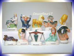 Zodiac Thème Astral Français .. 10 Fèves .. Ref AFF : 29-2002...( Pan 0041) - Other