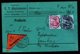 A5171) DR Grüne Nachnahmekarte Dresden 6.11.09 N. Camberg - Deutschland