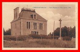 CPA (50) CAROLLES.  Croix Paqueret Et Villa Jeanne D'Arc...B686 - Andere Gemeenten