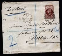 A5172) UK Registered Wrapper London 27.10.88 To Berlin / Germany - 1840-1901 (Viktoria)