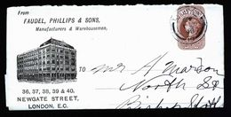 A5173) UK Advertising Wrapper London 1.3.98 To Bishops Stortford - Storia Postale