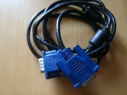 Cable VGA 15 Broches Male/male Logueur 0,90m Avec Visse De Maintien - Autres
